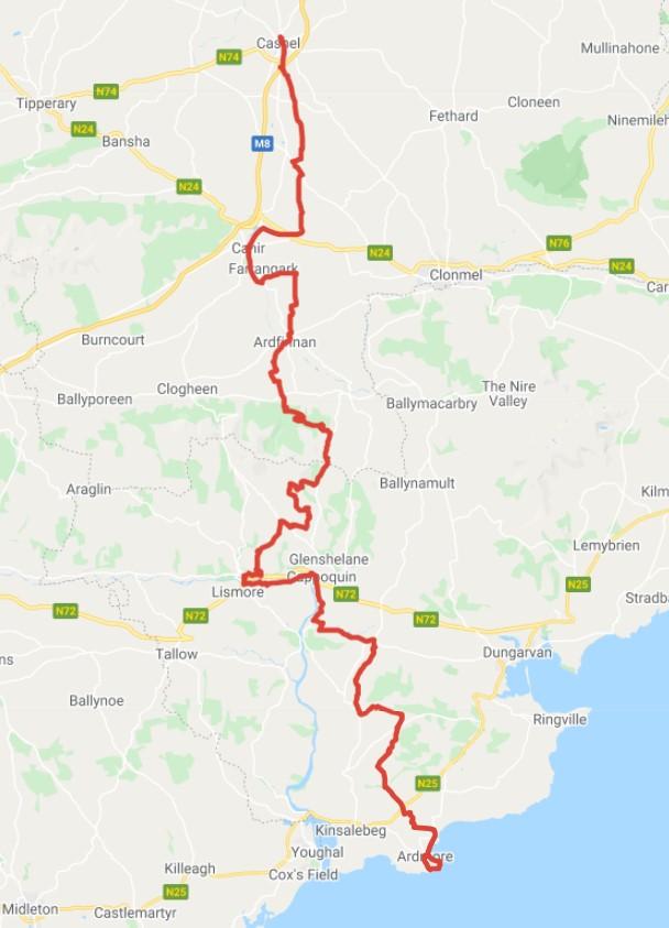 St. Declan's Way Map